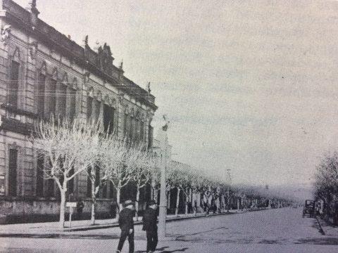 Estampa fotográfica chivilcoyana, de la década de 1920: El nacimiento de la avenida Domingo Faustino Sarmiento.