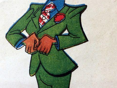 Ilustración del talentoso y destacado dibujante, caricaturista, autor de historieta y arquitecto argentino, Lino Palacio (1903-1984).