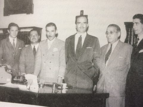 El Dr. Francisco José Falabella, cuando asumió como comisionado municipal de Chivilcoy el 7 de marzo de 1957. Dejó dicho cargo, el 28 de junio, de ese mismo año.