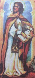 Imagen de San Valentín, el joven y valiente sacerdote cristiano, que celebraba los matrimonios; decapitado el 14 de febrero del año 270.