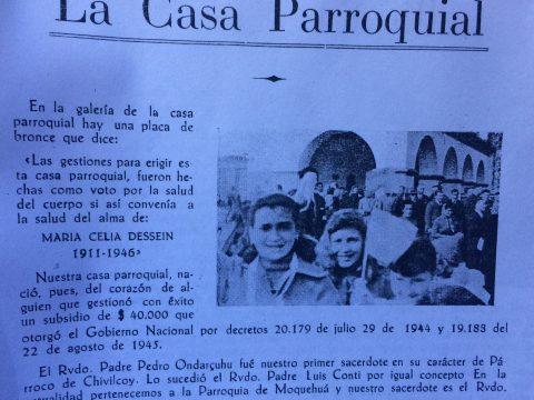 «Casa Parroquial», de la Capilla «Nuestra Señora de los Dolores», de la localidad rural de Ramón Biaus, que se inauguró, en la década de 1940.