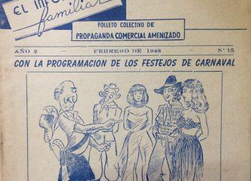 Historieta de Agustín Domingo Guasco, alusiva a los festejos del carnaval (Febrero de 1948)