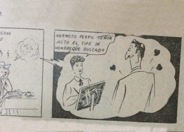 «Don Televisorio»,tira humorística, de Agustín Domingo Guasco, singular y glorioso pionero de la historieta chivilcoyana.
