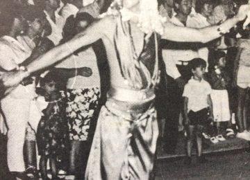 """El inolvidable Santiago Marsano, """"Santiaguito"""", en el carnaval de 1987."""