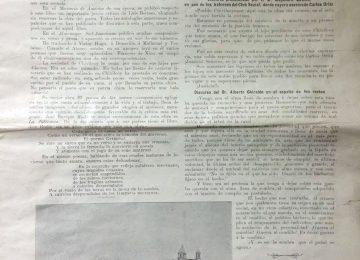 «Revista ilustrada del Río de la Plata», correspondiente al mes de marzo de 1910, que informó en sus páginas, sobre la trágica muerte del poeta Carlos Ortíz, en Chivilcoy, el día 3 de marzo de 1910.