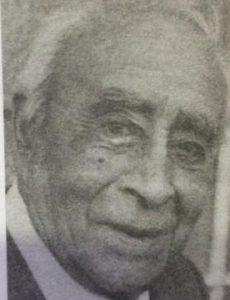 """El querido e inolvidable comerciante y hombre público chivilcoyano, Don José Tito Ranni,(1902-1999), fundador-organizador de la """"Publicidad Sirena"""", inaugurada el 9 de julio de 1934."""