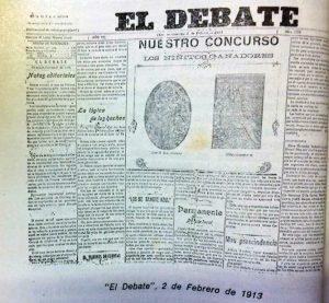 """El viejo diario """"El Debate"""", cuya entrega inicial, data del 1 de marzo de 1907."""