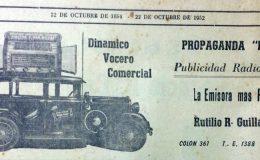 Publicidad rodante de Rutulio R. Gillardoy, que recorría las calles de nuestras ciudad, en la década de 1950, con la propaganda comercial, de diferente casas chivilcoyanas.