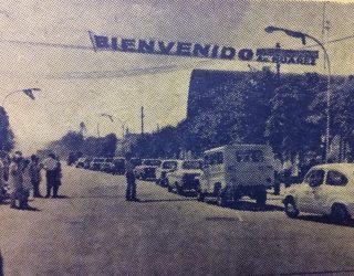 Inauguración de las obras de pavimentación de la avenida, Dr. José León Suárez, el 21 de marzo de 1971, durante la administración municipal, del ingeniero José María Ferro.
