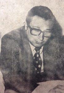 El abogado chivilcoyano, Dr. Obdulio Aníbal De Vito, ex asesor letrado de la municipalidad de Chivilcoy, en 1973, durante la gestión del intendente comunal, Edgar Ángel Frígoli.