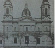 Imagen fotográfica, de la iglesia Nuestra Señora del Rosario, a comienzos de la década de 1940.