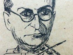 El violinista, director de orquesta y docente, profesor Ramón Ros (1892-1978), en la caricatura de Horacio Ávila.
