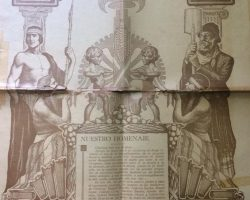 Portada del matutino local «La Razón», correspondiente al viernes 22 de octubre de 1937, en el 83 aniversario, de la fundación de Chivilcoy. Ilustración alusiva, del dibujante, pintor y docente profesor Edelmiro Volta.