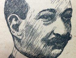El eminente médico, sociólogo y escritor argentino, Dr. José Ingenieros (1877-1925), en el dibujo de Horacio Ávila.