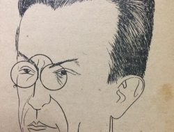 Caricatura del destacado médico lugareño, Dr. Carlos A. Corre (1877-1963), realizada por el dibujante Horacio Ávila.