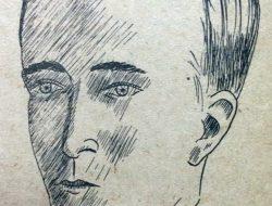 El periodista y escritor, Valentín Suárez (1902-1985), en el dibujo de Horacio Ávila.