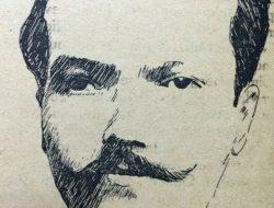 El gran poeta lírico chivilcoyano, Carlos Ortiz (1870-1910), a través de la caricatura de Horacio Ávila.