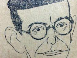 Caricatura del pintor y decorador, Juan Navarro Granados (1882-1959), que efectuó Horacio Ávila.