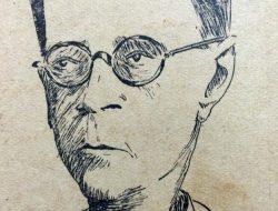 El polifacético y caracterizado periodista, escritor, dramaturgo, conferenciante, artista plástico y docente, profesor Jesús García de Diego (1877-1961), reflejado en la caricatura de Horacio Ávila.