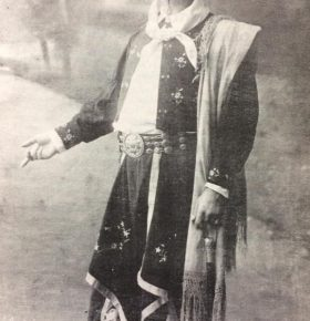 El notable actor José Podestá (1858-1937), en su rol protagónico, del gaucho Juan Moreira.