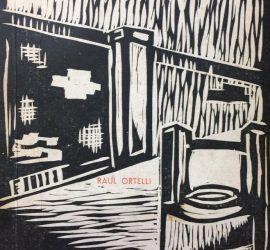 Carátula o portada del volumen «La Tarde que mataron a Moreira», del caracterizado y prestigioso escritor y periodista mercedino, Raúl Ortelli (1905-1978), fundador y director del conocido diario «La Hora».