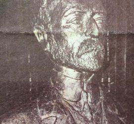 Busto del Dr. Joaquín V. González  (1863-1923), inaugurado en la Escuela Normal, para el 75 aniversario de dicho establecimiento educativo, el 12 de abril de 1980.