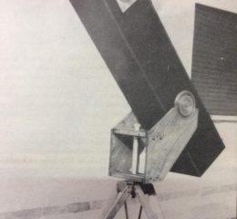 El telescopio, perteneciente al Instituto Municipal de Estudios Científicos y Técnicos (Año 1988).
