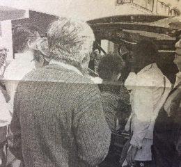 Sepelio de la gran actriz chivilcoyana, Blanca Pérez de García, ex presidenta, durante muchos años, de ardua labor, de la Agrupación Artística Chivilcoy, sus restos, fueron inhumados en el Cementerio Municipal, el lunes 7 de noviembre de 2011.