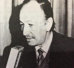 El prestigioso y siempre recordado, meteorólogo argentino, licenciado Valentín Komar, quien visitó Chivilcoy, en distintas oportunidades, para ofrecer charlas y conferencias.