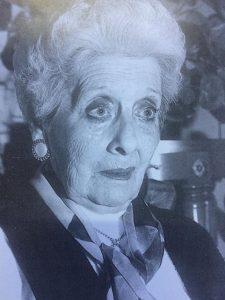 """La excelente e inolvidable actriz chivilcoyana, Blanca Anita Pérez de García (1918-2011), considerada la """"Gran Dama de la escena y del Teatro Local""""."""