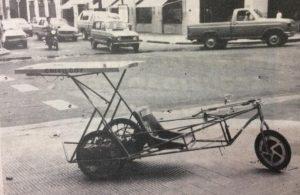 Automóvil, a energía solar, fabricado en Chivilcoy, en 1988, a través del Instituto Municipal de Estudios Científicos y Técnicos.