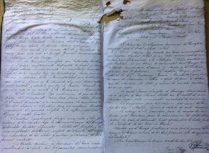 Acta de la primera reunión, del Consejo Escolar de Chivilcoy, constituido el 30 de marzo de 1876.