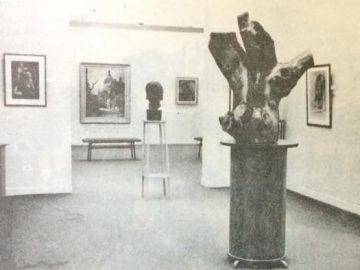 """Sala del Museo Municipal de Artes Plásticas """"Pompeo Boggio"""", de la década de 1970."""