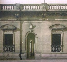 Fachada del antiguo edificio del Consejo Escolar de nuestra ciudad (Año 1901).