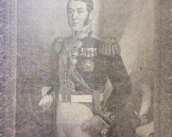 Retrato del glorioso Padre de la Patria, General José de San Martín, que realizó, en la década de 1940, el pintor y docente, profesor Edelmiro Volta (1901-1970). Dicha obra, pertenece al Liceo Militar de la Nación.
