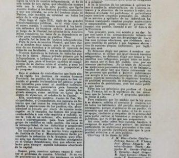 Comunicado de «El Club del Pueblo», que redactó el poeta, periodista, dramaturgo y docente, Manuel López Lorenzo, el 14 de junio de 1878.