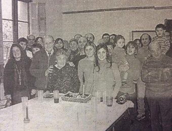 Don Simón Yapor, fundador y director del periódico quincenal «Tribuna», en el marco afectivo, de una cálida reunión familiar, cuando cumplió sus 80 años de edad, en el mes de mayo de 2004.