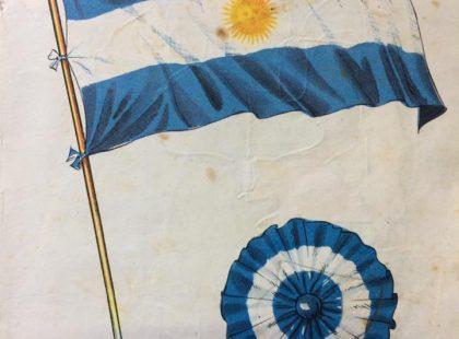 Láminas patrióticas, alusivas al 25 de mayo de 1810, publicadas en las páginas, de distintos libros de lectura, de escuela primaria, correspondientes a la décadas de 1940, 1950 y 1960.