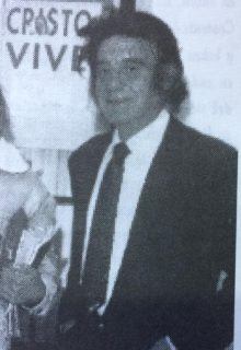 El polifacético y destacado poeta, escritor y periodista, Miguel Desiderio Torres, fundador y director de la revista literaria «Enfoques», en noviembre de 1970.