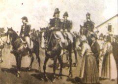 Láminas alusivas, al Día de la Bandera, y a la figura del Gral. Manuel Belgrano, publicadas en distintos libros de lectura, de escuela primaria, correspondientes a las décadas de 1940 y 1950.
