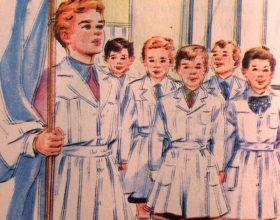 Láminas alusivas, al Día de la Bandera, y la insigne figura histórica, del glorioso Gral. Manuel Belgrano, publicada en las páginas, de distintos libros de lectura, de escuela primaria, correspondientes a las décadas de 1940, 1950 y 1960.