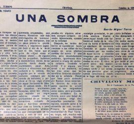 Colaboración del poeta, escritor y periodista, Miguel Desiderio Torres, en las páginas del recordado diario «El Tiempo» (Octubre de 1966).