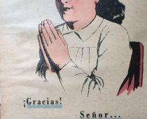 Ilustraciones, de distintos libros de lectura, de escuela primaria, correspondientes a las décadas de 1940 y 1950.