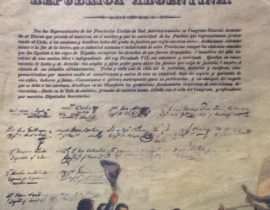 Ilustraciones del histórico y memorable 9 de Julio de 1816, cuando se declaró la gloriosa Independencia Nacional, publicadas en revistas alusivas, a dicha efemérides, de las décadas de 1950 y 1960.