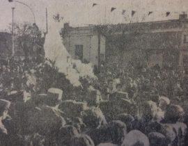 Procesión de la festividad de la Virgen del Carmen, en 1977.
