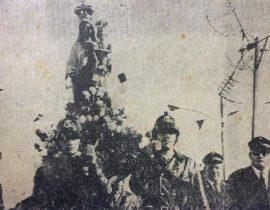 Procesión callejera de la Virgen del Carmen, en el año 1971.