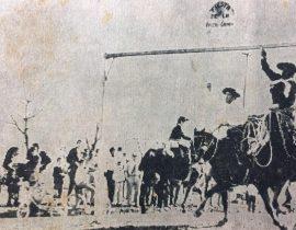 Las clásicas e inolvidables carreras de sortija, a caballo, una de las principales atracciones, de los festejos populares, de la celebración de la Virgen del Carmen. Se realizaron, durante un buen número de años, sobre la avenida 22 de Octubre, y otras calles aledañas. También, se organizaron, carrera de sortija, en bicicleta y automóvil, durante la década de 1940.