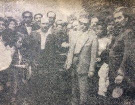Ceremonia del sepelio, de Don Pascual Aulisio – Pascualito-, el 28 de enero de 1960. Su inesperado fallecimiento, suscitó una sincera y profunda consternación popular.
