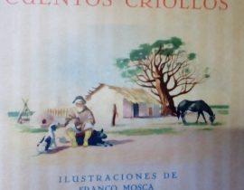 Ilustraciones, de temas criollos, gauchescos y camperos, correspondientes a la década de 1940.