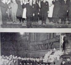 Velatorio emblemático o simbólico, de Eva Duarte de Perón, frente al local de la Confederación General del Trabajo (C.G:T). Fotografía, del mes de julio de 1952.